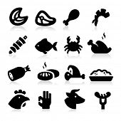 stock photo of sea cow  - Meat Icons - JPG