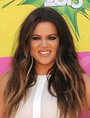 LOS ANGELES - APR 23:  Khloe Kardashian arrives to the Kid's Choice Awards 2013  on April 23, 2013 i