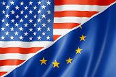 Usa And Europe Flag
