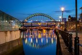picture of tyne  - he Tyne Bridge is a through arch bridge over the River Tyne in North East England - JPG