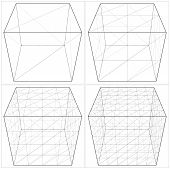 Cube From The Simple To The Complicated Shape Vector