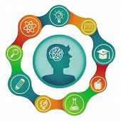 stock photo of cognitive  - Vector education concept  - JPG