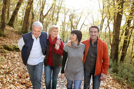 picture of foursome  - happy foursome gone for a walk - JPG