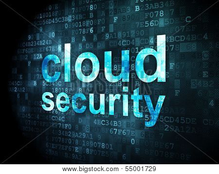 Cloud technology concept: Cloud Security on digital background