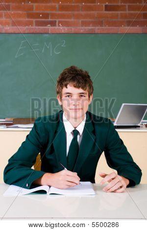 High school boy