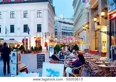 Night Life In Bratislava City Center