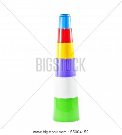 Colorful Childrens Toy Stacking Cups