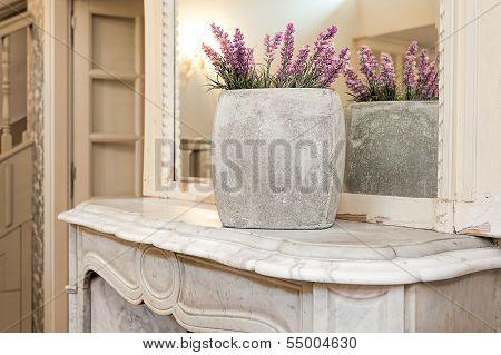 Vintage Mansion - Lavender Vase