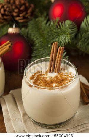 Homemade Festive Cinnamon Eggnog