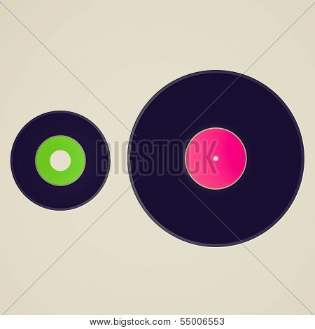 Vintage Look Vinyl Records