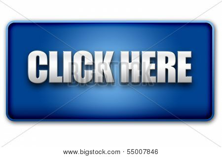 Click Here 3D Blue Button On White Background