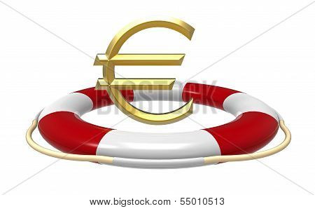 Lifebuoy With Euro Sign
