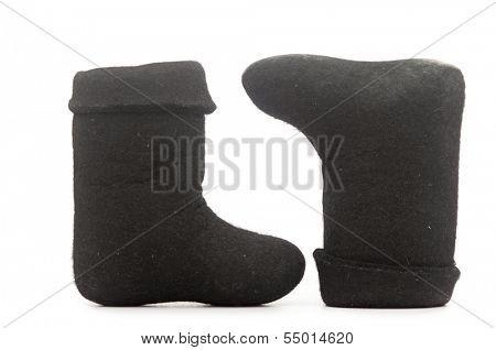 Russian winter felt boot valenki