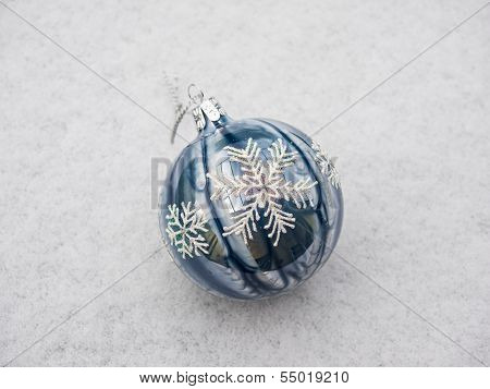 Christmas Decoration Ball In Snow