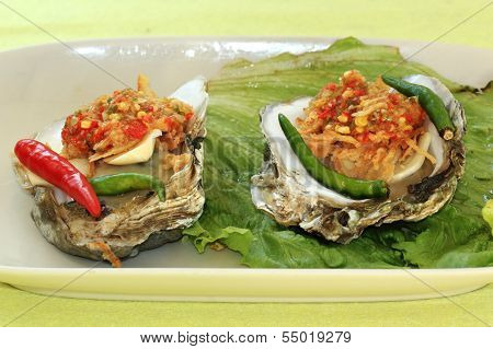 Oyster With Spicy Sauce