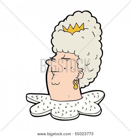 cartoon queen head