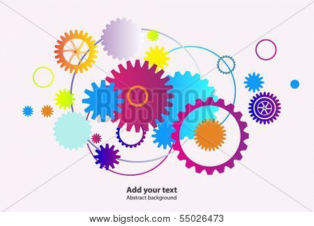 Abstract bright illustrative background