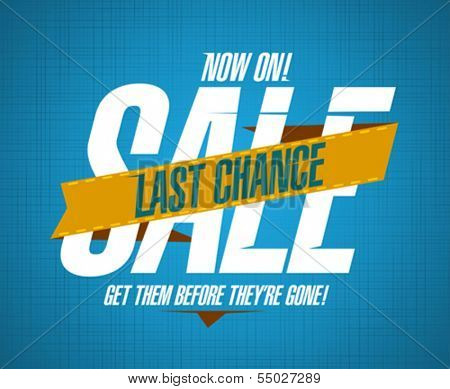 Last chance sale design template