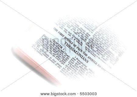 Bíblia aberta aos Tessalonicenses vinheta