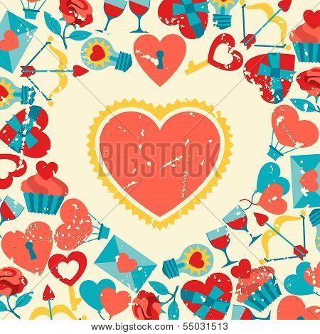 Valentine's and Wedding background.