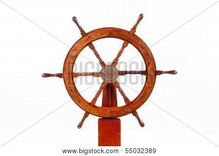 Old Boat Steering Wheel