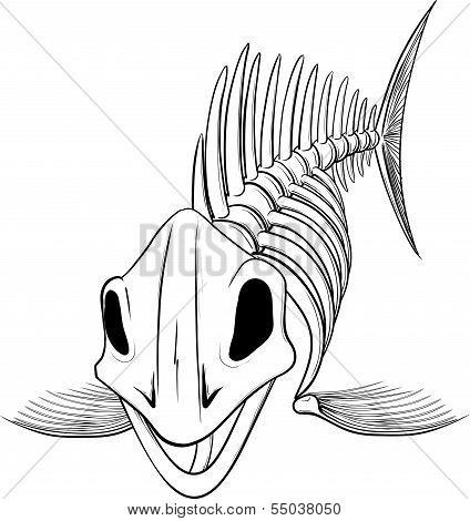 silhouette skeleton fish