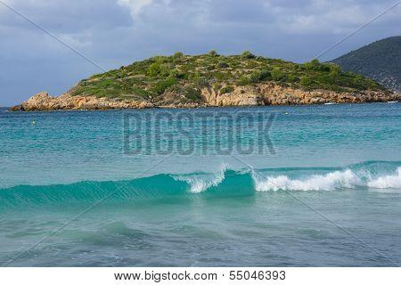 Breaking Wave On Sant Elm Beach