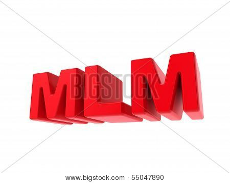 MLM - Red Text Isolated on White.