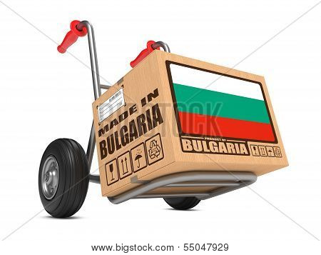 Made in Bulgaria - Cardboard Box on Hand Truck.