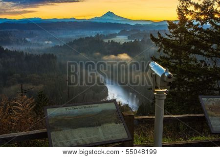 Mount Hood From Jonsrud Viewpoint.