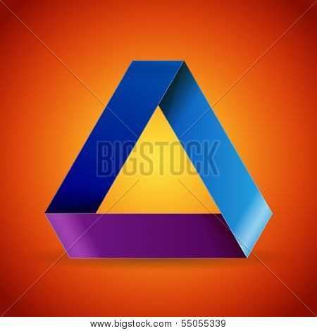 Mobius origami colorful paper triangle