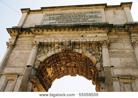 The Arch of Titus at Forum Roman