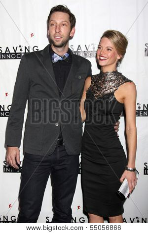 LOS ANGELES - DEC 5:  Joel David Moore, Ellen Michelle Monohan at the 2nd Annual Saving Innocence Gala at The Crossing on December 5, 2013 in Los Angeles, CA
