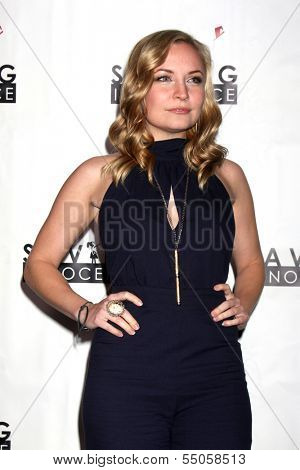 LOS ANGELES - DEC 5:  Lindsey Haun at the 2nd Annual Saving Innocence Gala at The Crossing on December 5, 2013 in Los Angeles, CA