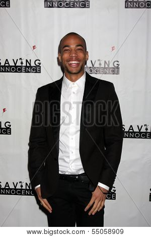 LOS ANGELES - DEC 5:  Kendrick Sampson at the 2nd Annual Saving Innocence Gala at The Crossing on December 5, 2013 in Los Angeles, CA