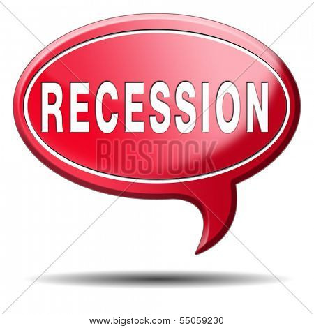 recession crisis bank and stock crash economic and financial bank recession market crash icon or button