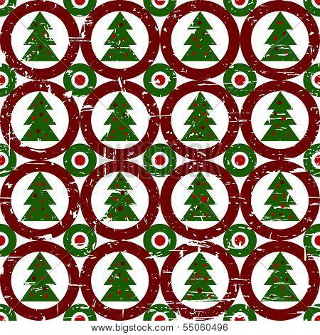 Geometric christmas circle christmas tree background