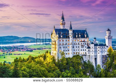 Neuschwanstein Castle in Germany.