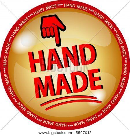golden hande made button