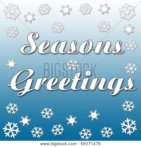 seasons greetings snowfall