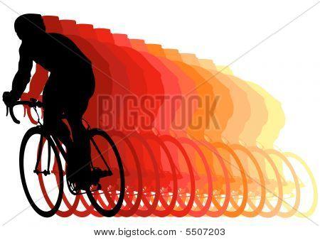 Racer On A Bike