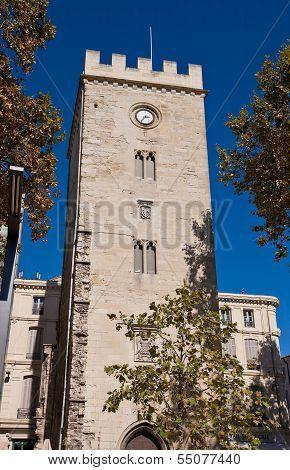 Saint-jean Tower (xiv C.) In Avignon, France (monument Historique)