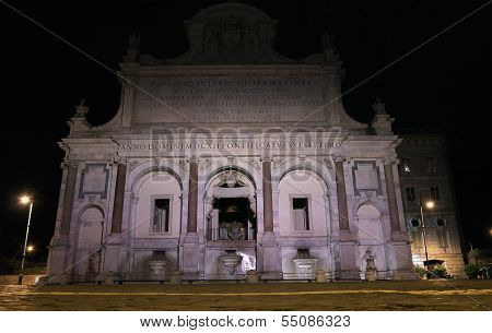 Fontana Dell' Acqua Paola In Rome