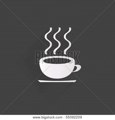 Hot drink web icon