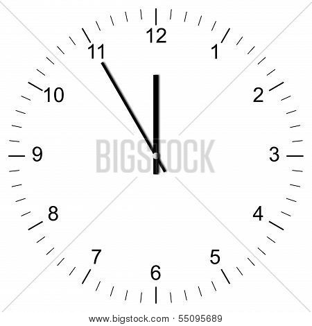 Clock Illustration 11:00