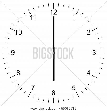 Clock Illustration 6:00