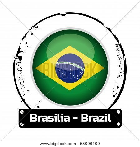 stamp Brasilia