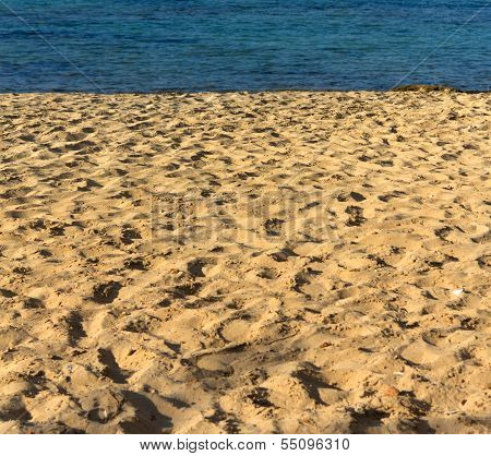 Wonderful sandy beach of Nissi Beach, on Cyprus island