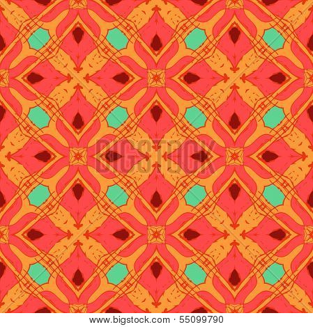 Oriental pattern with Indian, Thai ethnic motifs