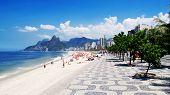foto of brazilian carnival  - Ipanema beach  in Rio de Janeiro - JPG